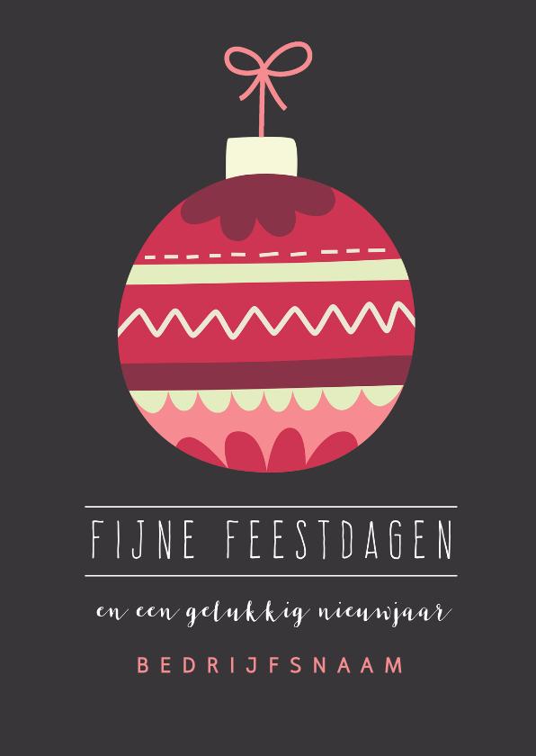 Zakelijke kerstkaarten - Zakelijke kaart met kerstbal