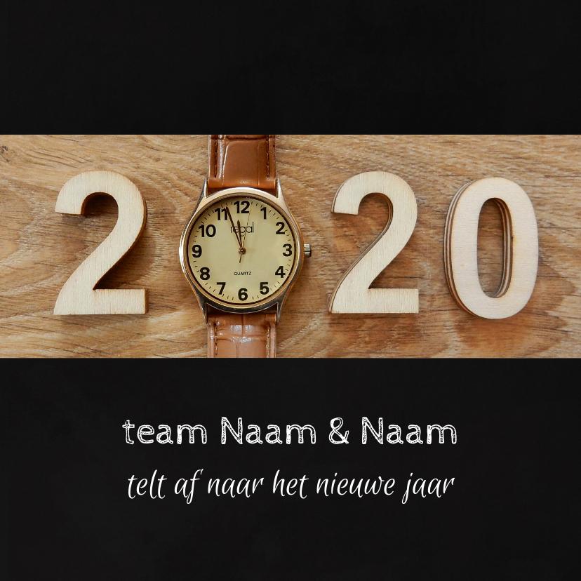 Zakelijke kerstkaarten - Zakelijke kerst horloge aftellen 2020 - 2021
