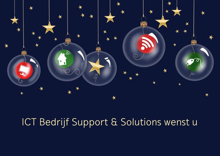 Zakelijke kerstkaarten - Zakelijke kerst - Kerstballen met ICT pictogrammen