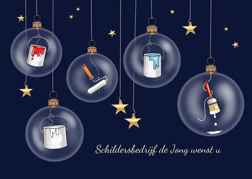 Zakelijke kerstkaarten - Zakelijke kerst - schilders kerstballen