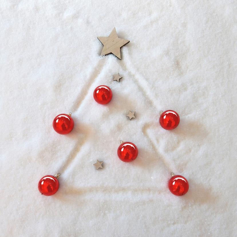 Zakelijke kerstkaarten - Zakelijke kerst sneeuwboom