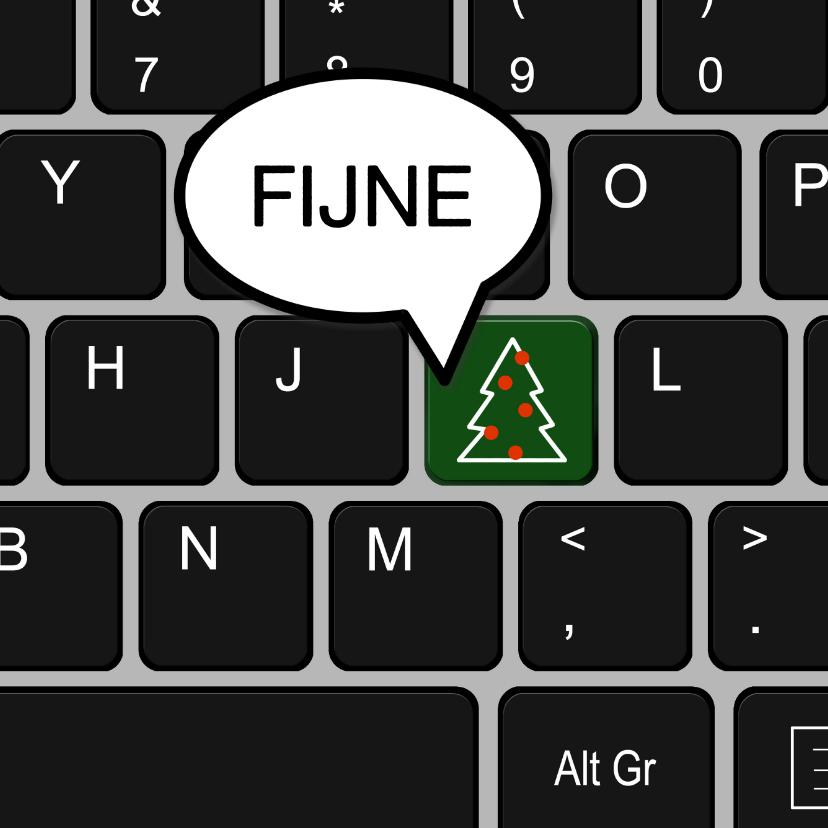Zakelijke kerstkaarten - Zakelijke kerst toetsenbord bedankt