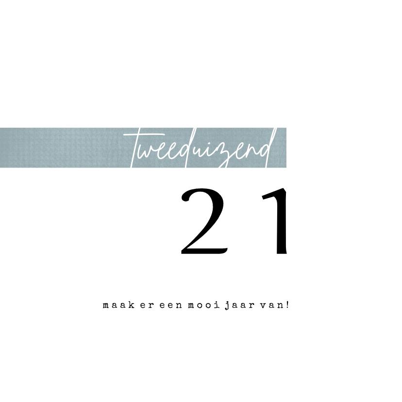 Zakelijke kerstkaarten - Zakelijke kerstkaart 2020, eenvoudig met leuke typografie