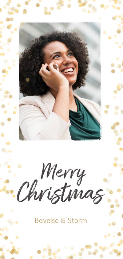 Zakelijke kerstkaarten -  Zakelijke kerstkaart gouden confetti - BK