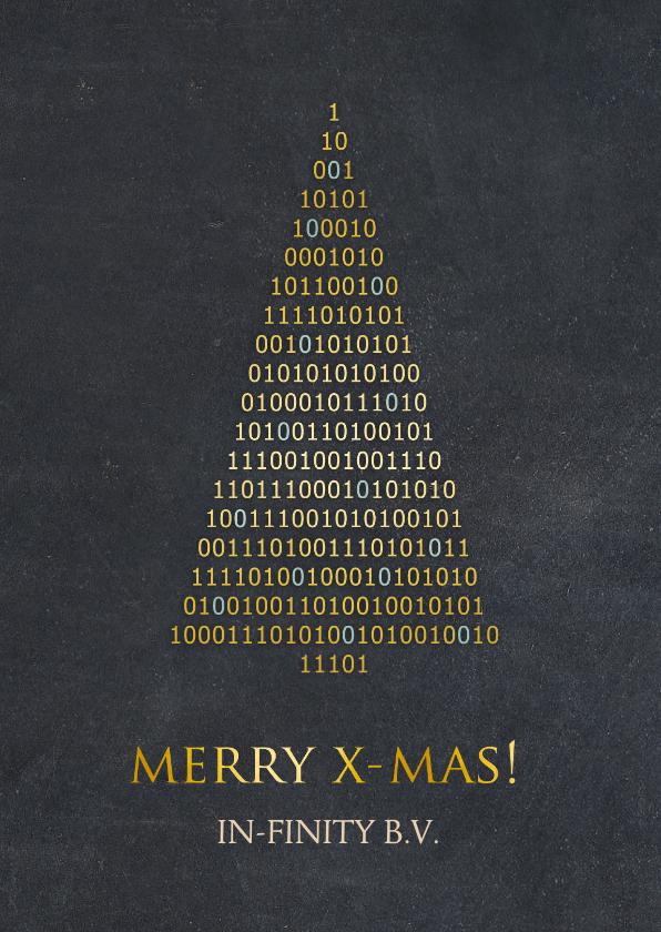 Zakelijke kerstkaarten - Zakelijke kerstkaart ICT branche - binaire kerstboom