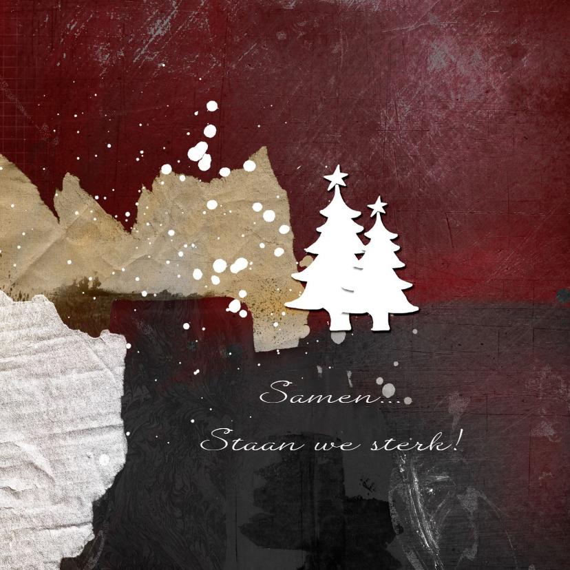 Zakelijke Kerstkaart Kerst Abstracte Bergen Kaartje2go