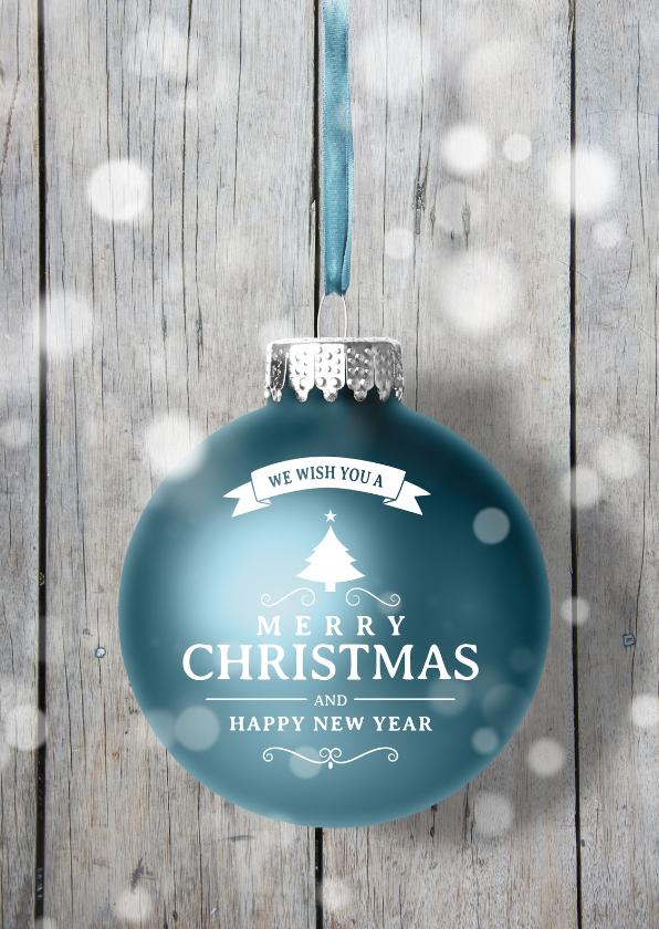 Zakelijke kerstkaarten - Zakelijke kerstkaart kerstbal bl