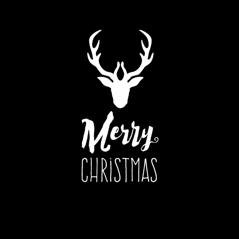 Zakelijke kerstkaarten - Zakelijke kerstkaart Merry christmas met rendier