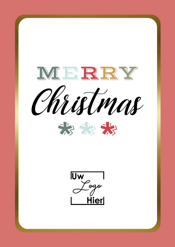 Zakelijke kerstkaarten - Zakelijke Kerstkaart - Merry Christmas - Modern
