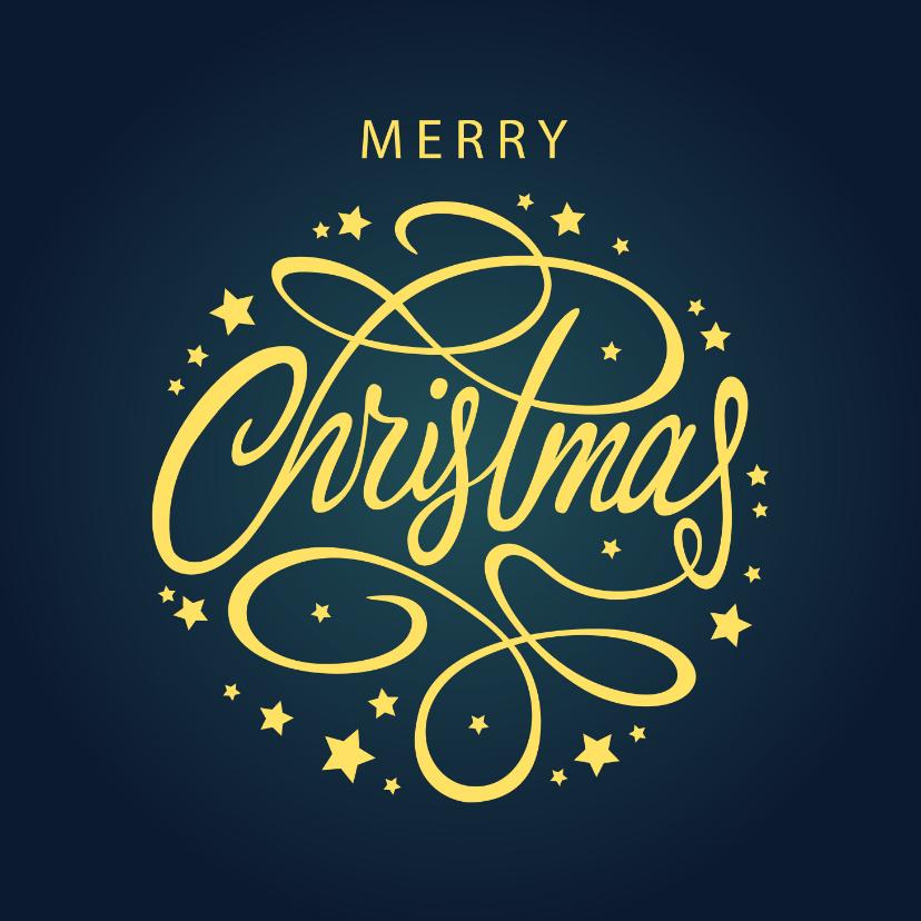 Zakelijke kerstkaarten - Zakelijke kerstkaart Merry Christmas