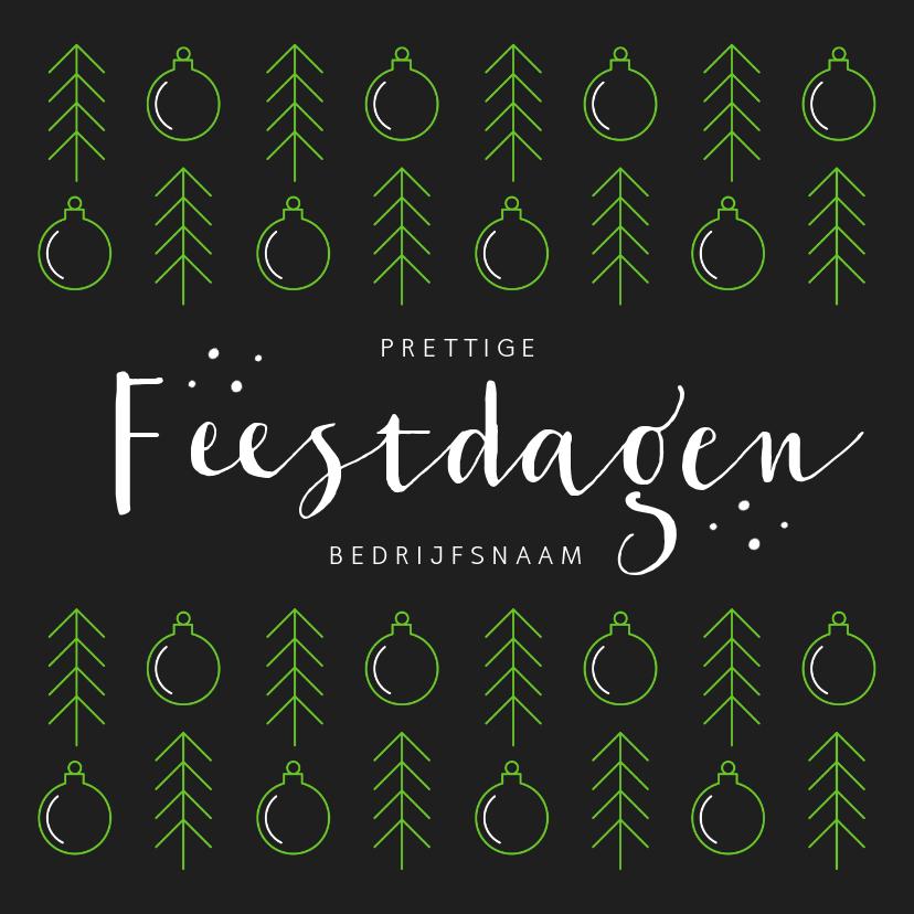 Zakelijke kerstkaarten - Zakelijke kerstkaart modern grafisch kerstballen foto logo