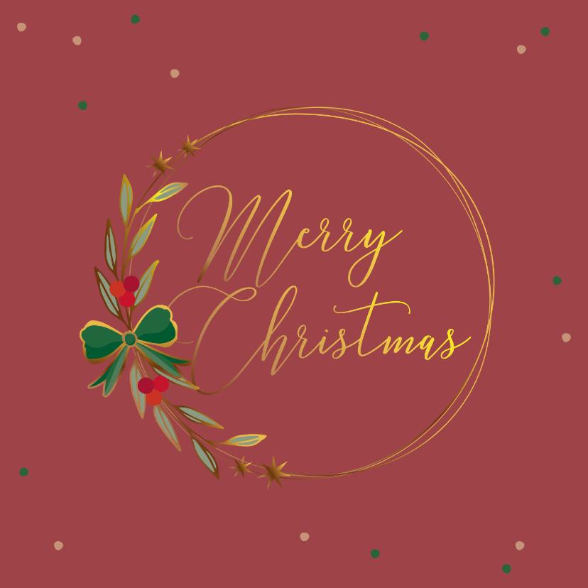 Zakelijke kerstkaarten - Zakelijke kerstkaart sfeervol bordeaux