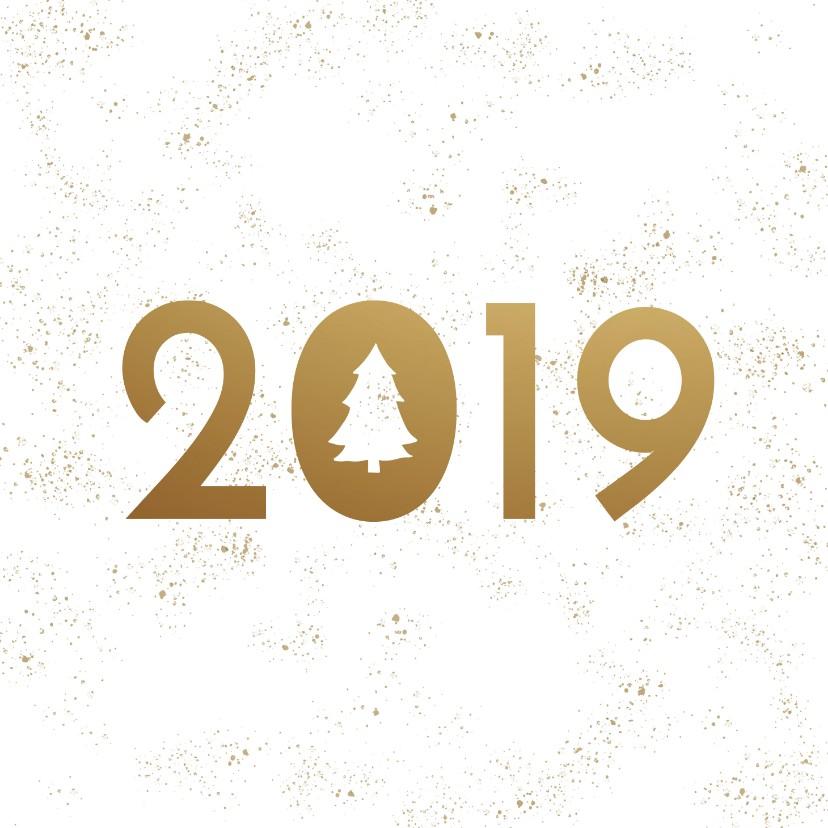 Zakelijke kerstkaarten - Zakelijke kerstkaart sneeuw 2019