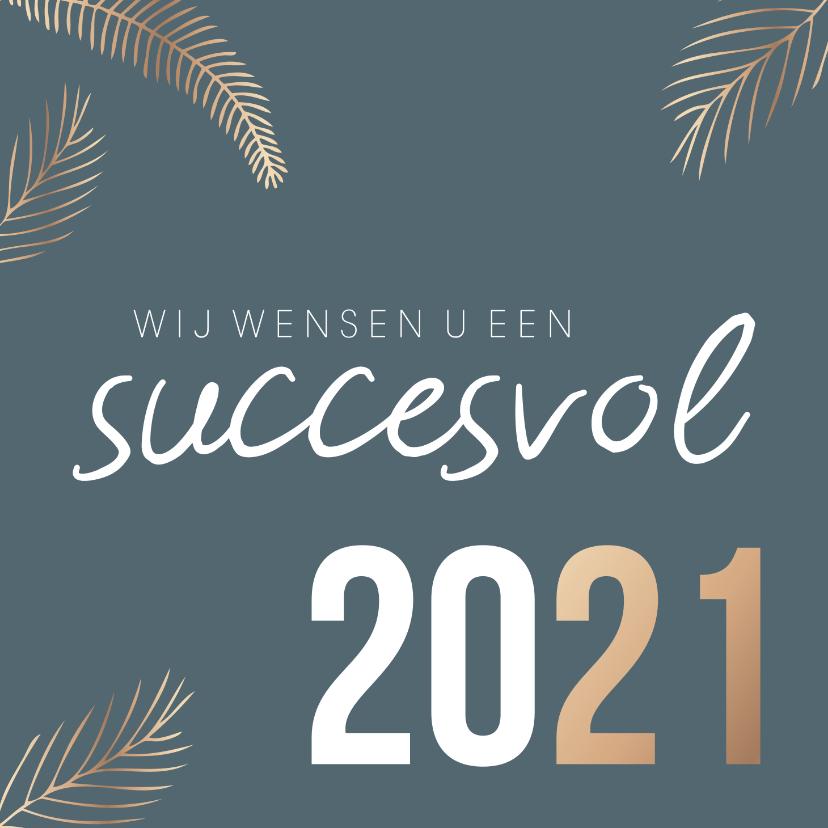 Zakelijke kerstkaarten - Zakelijke kerstkaart 'Succesvol 2020'