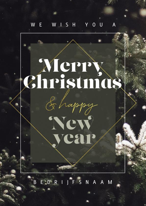 Zakelijke kerstkaarten - Zakelijke kerstkaart winter merry christmas happy new year