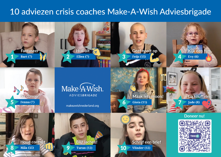 Zomaar kaarten - 10 adviezen crisis coaches Make-A-Wish Adviesbrigade