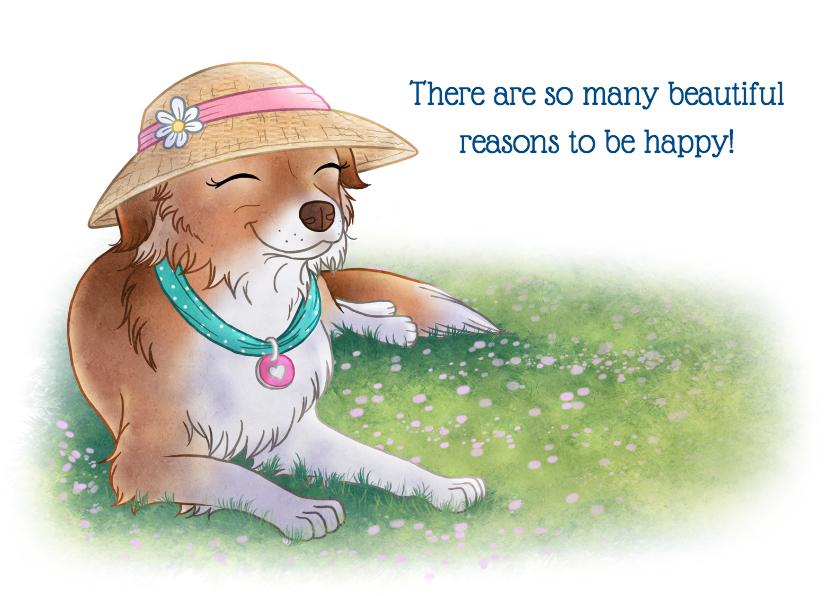 Zomaar kaarten - Be happy! - Chiwowy