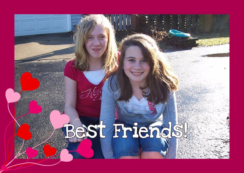 Zomaar kaarten - Best Friends Eigen Foto