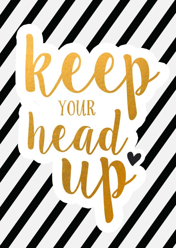 Zomaar kaarten - Coaching keep your head up