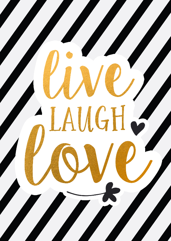 Zomaar kaarten - Coaching live laugh love