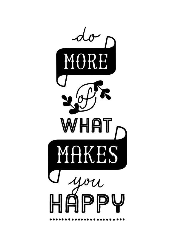 Zomaar kaarten - Coachingskaart do more of what makes you happy