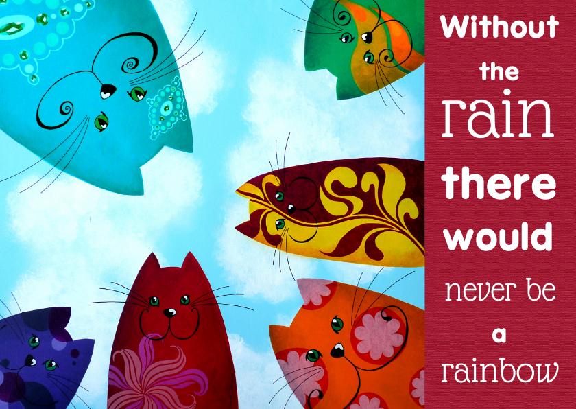Zomaar kaarten - Coachingskaart katten rainbow