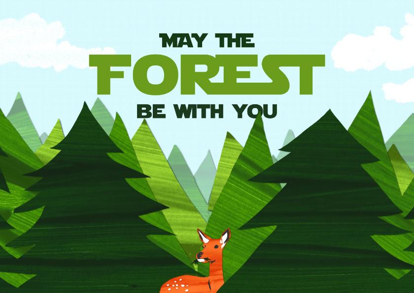 Zomaar kaarten - Coachingskaart May the forest be with you