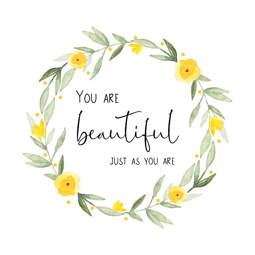 Zomaar kaarten - Compliment kaart Beautiful bloemen