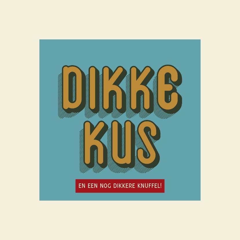 Zomaar kaarten - Dikke kus - retro - zomaarkaart