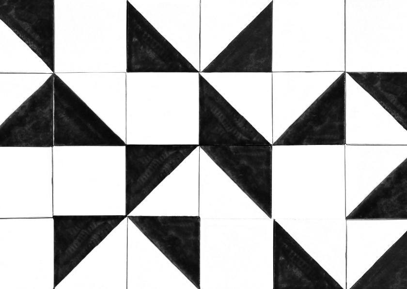 Zomaar kaarten - Een zomaar kaartje met zwart-wit tegel patroon