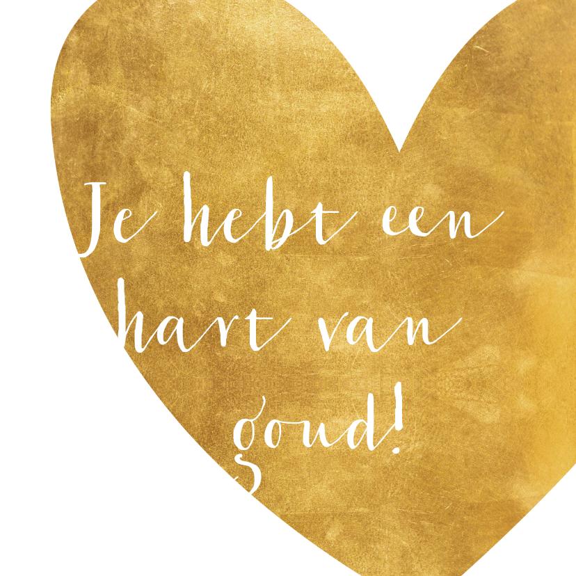Zomaar kaarten - Felicitatie hart van goud