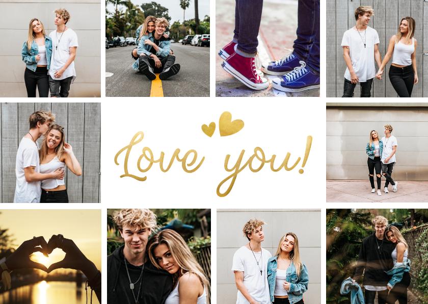 Zomaar kaarten - Fotocollage love you laat iemand weten dat je van hem houdt
