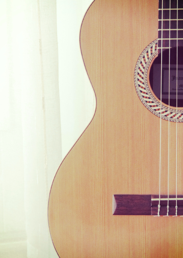 Zomaar kaarten - Fotokaart gitaar