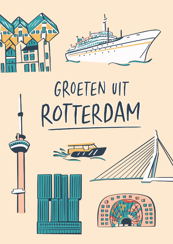 Zomaar kaarten - Groeten uit Rotterdam gebouwen
