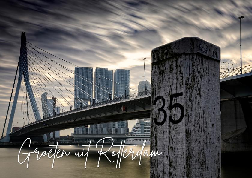 Zomaar kaarten - Groeten uit Rotterdam met een foto van de Erasmusbrug