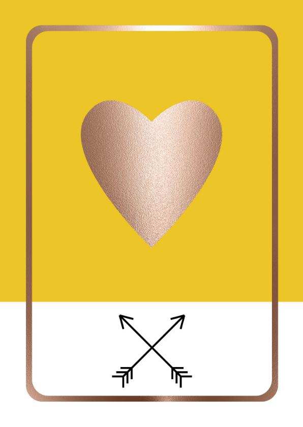 Zomaar kaarten - Hippe wenskaart - Een hart onder de riem