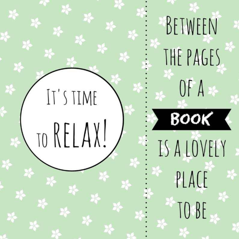 Zomaar kaarten - Kaart boekenlegger Relax - WW