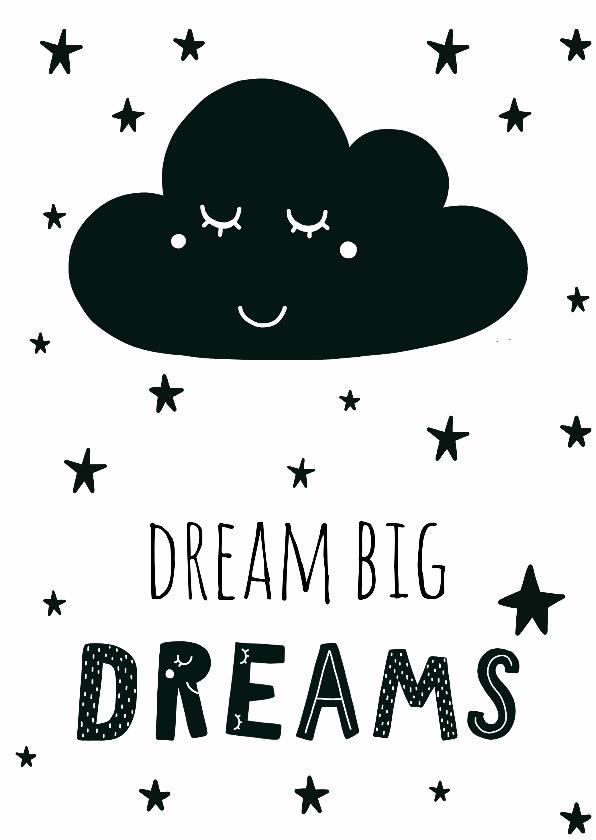 "Zomaar kaarten - Kaart ""Dream big dreams"" - WW"