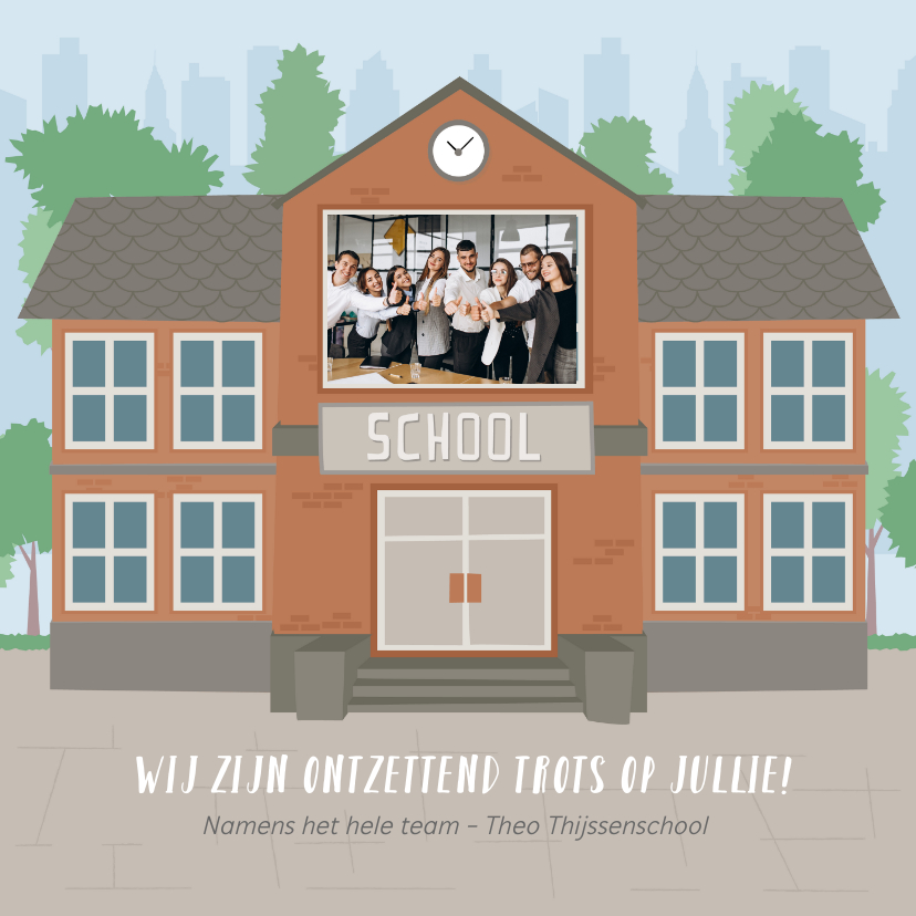Zomaar kaarten - Kaart namens team leerkrachten voor alle leerlingen thuis