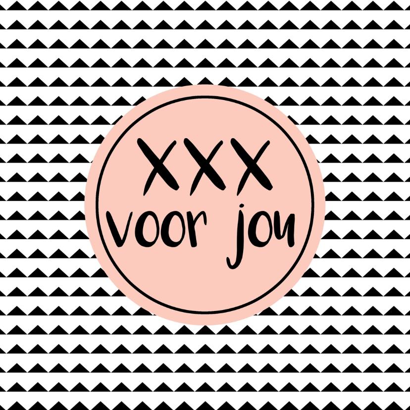 """Zomaar kaarten - Kaart """"xxx voor jou"""" - WW"""