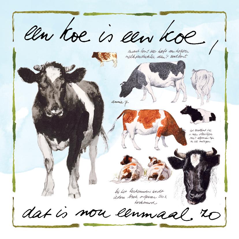 Zomaar kaarten - Koeienkaart Een koe is een koe, dat is nou eenmaal zo