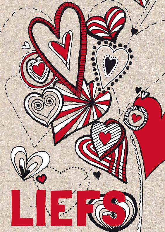 Zomaar kaarten - Liefs met hartjes