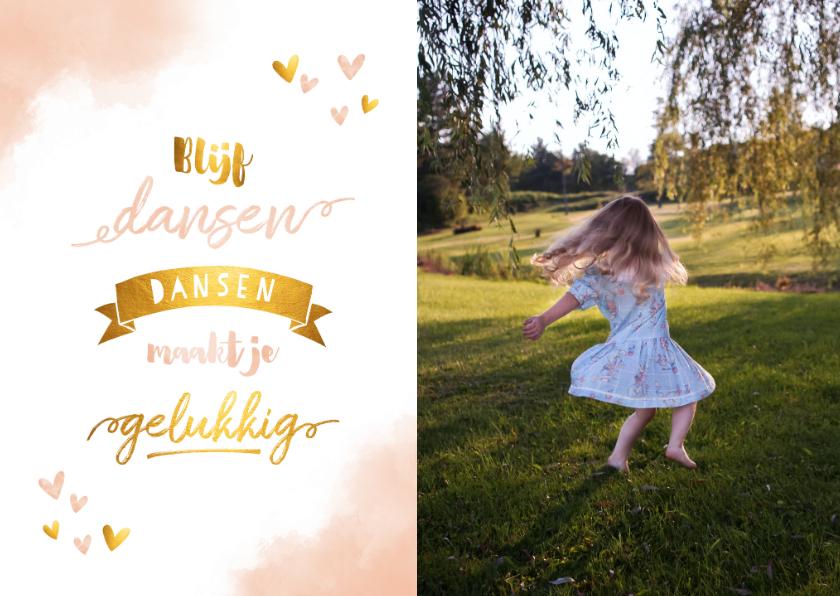 Zomaar kaarten - Make-A-Wish foto kaart blijf dansen roze