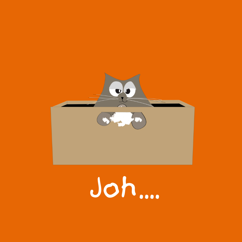 Zomaar kaarten - Mo Cards Succeskaart kat in bak