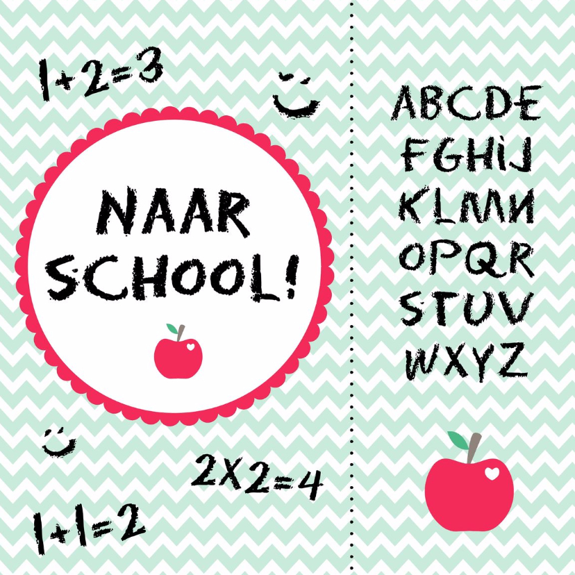 Zomaar kaarten - Naar school kaart - WW