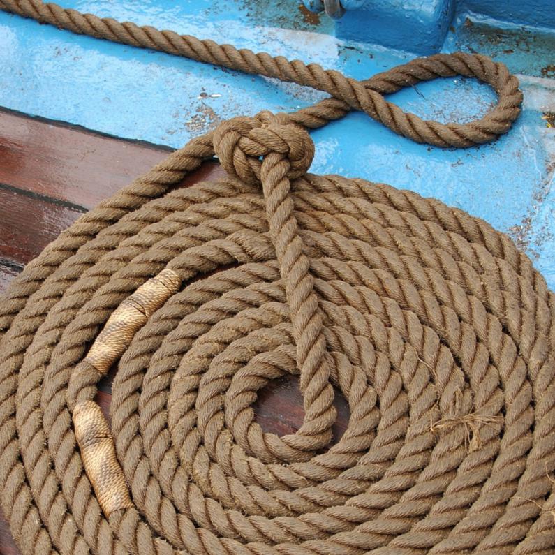 Zomaar kaarten - Nautisch - keurig opgerold touw