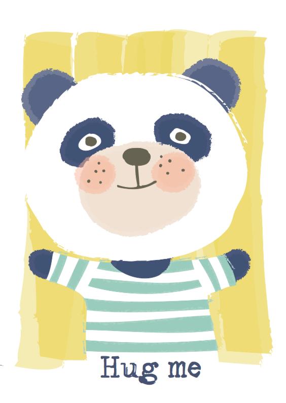 Zomaar kaarten - Panda knuffel
