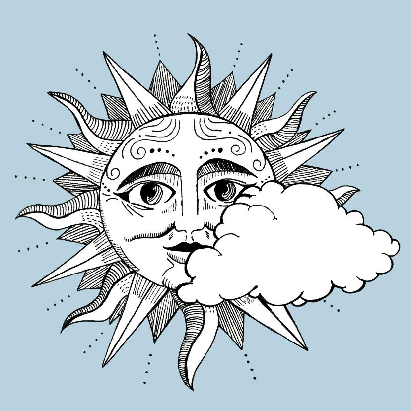 Zomaar kaarten - Phd Coachingskaart - Achter de wolken schijnt de zon