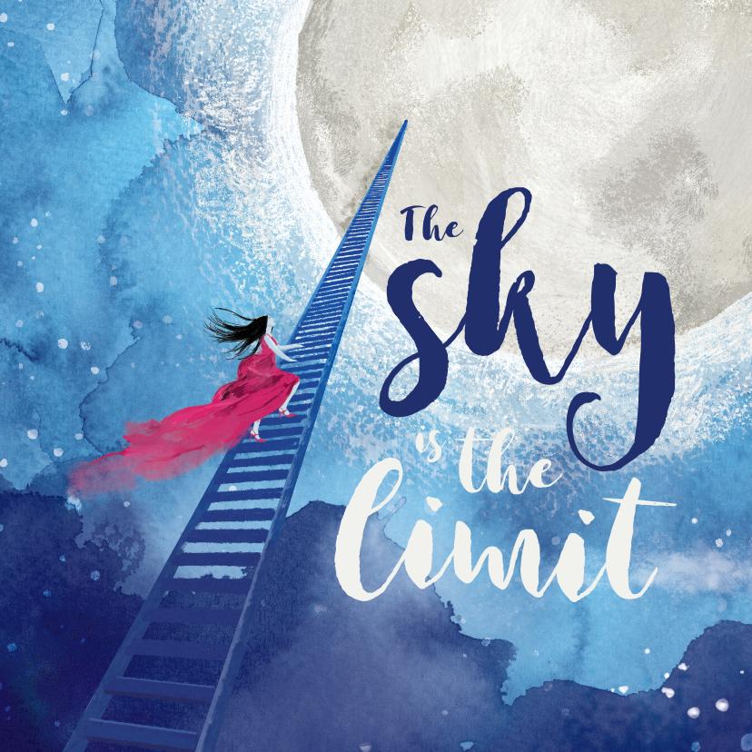 Zomaar kaarten - PhD succes kaart - the sky is the limit