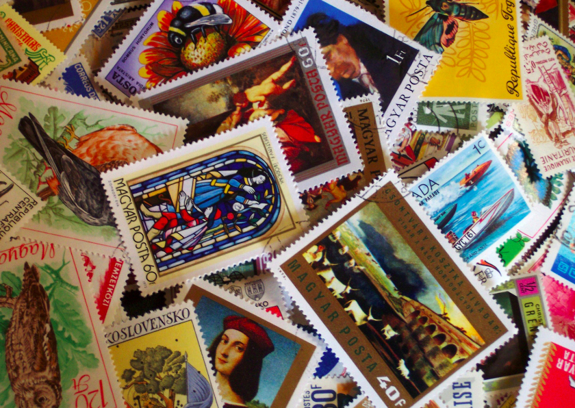 Zomaar kaarten - Postzegels